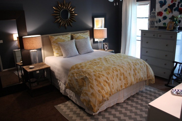 grey blue bedroom. Bedroom  Glidden Blue Slate Grey