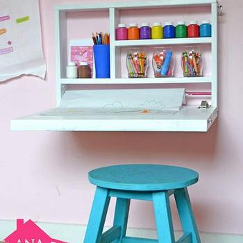 A DIY Flip Down Art Desk
