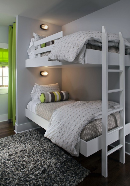 Floating bunk beds modern boy 39 s room Bunk bed boys room