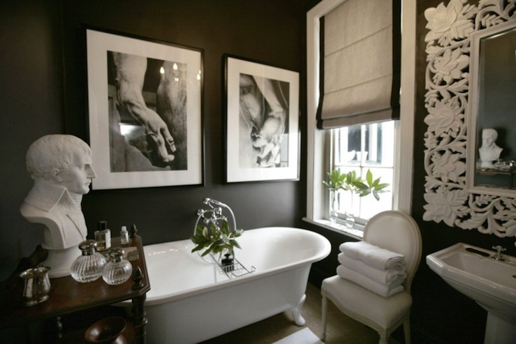 view full size. Bathroom with Chalkboard Walls   Eclectic   bathroom   Design Sponge