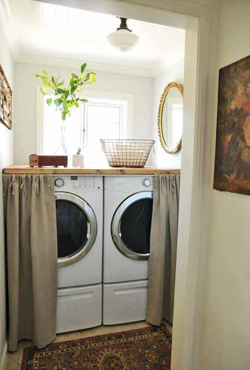 Skirted Washer And Dryer Cottage Laundry Room Heather Bullard
