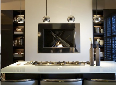 Kitchen Fireplace - Contemporary - kitchen - Kelly Hoppen ...