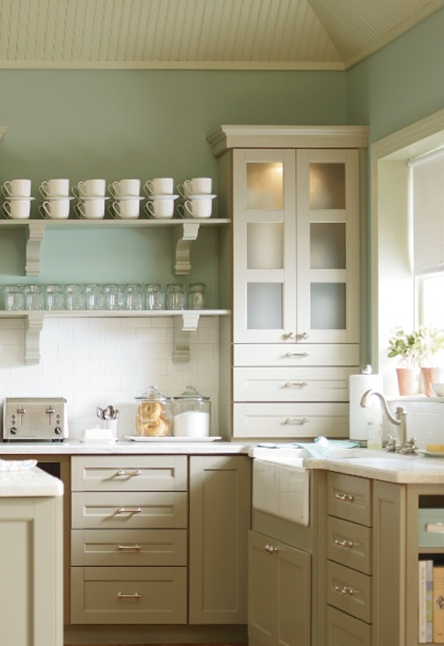 Martha stewart kitchen cabinets cottage kitchen for Kitchen colors with white cabinets with where to find wall art