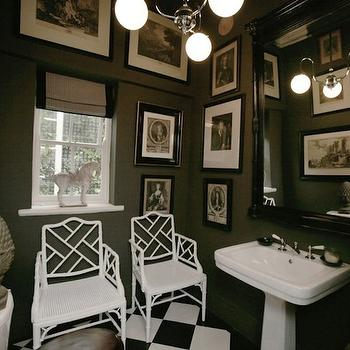 Chinese Chippendale Chair, Eclectic, bathroom, John Jacob Interiors