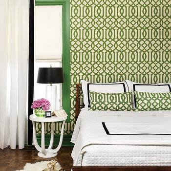 Kelly Wearstler Wallpaper, Contemporary, bedroom, House & Home