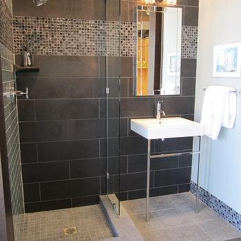 Black Tiles In Bathroom Ideas. Black Ceramic Tile