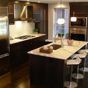Espresso Veneer Cabinets, Contemporary, kitchen, Melissa Miranda Interior Design