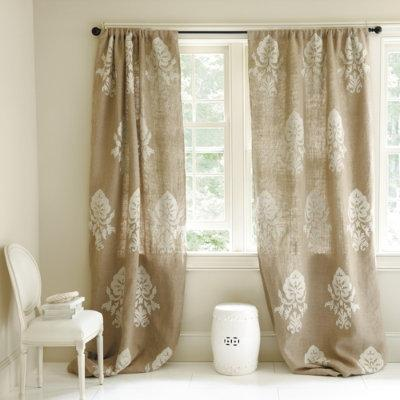 burlap linen drapes and curtains 226 half price drapes suzanne kasler greek key shower curtain ballard designs