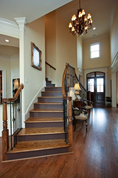 bridal staircase traditional entrance foyer. Black Bedroom Furniture Sets. Home Design Ideas