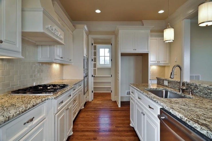 White kitchen cabinets gray granite countertops design ideas for White cabinets granite countertops