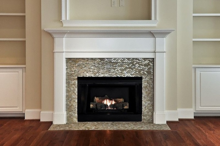 Chevron Tiled Fireplace Surround Design Ideas