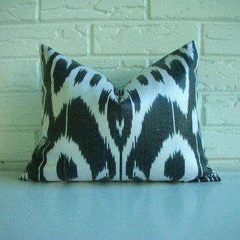 Decorative Throw Pillow Cover Ikat Lumbar Accent by habitationinc