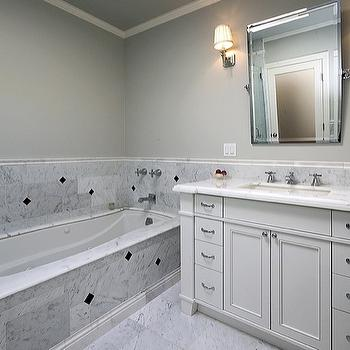 Carrara Marble Design Ideas - Best paint color for marble bathroom