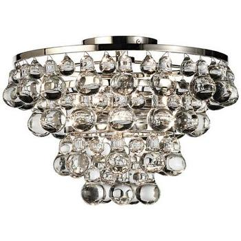 Bling Collection Polished Nickel Flushmount Ceiling Light, LampsPlus.com