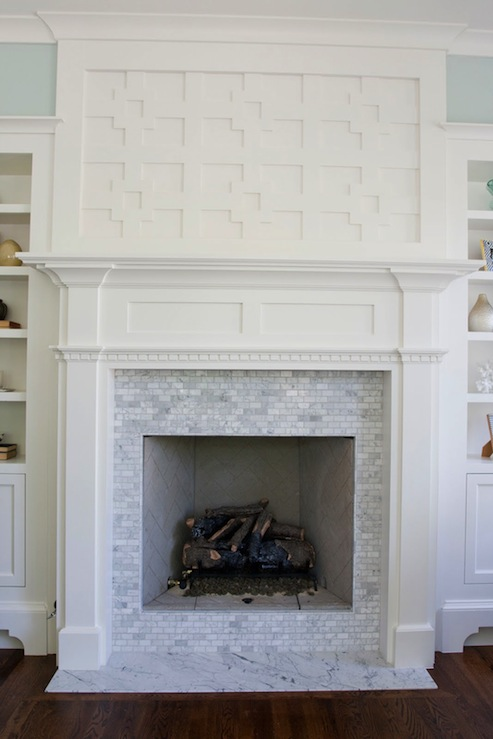 Tiek Built Homes Gorgeous Greek Key Fretwork Fireplace
