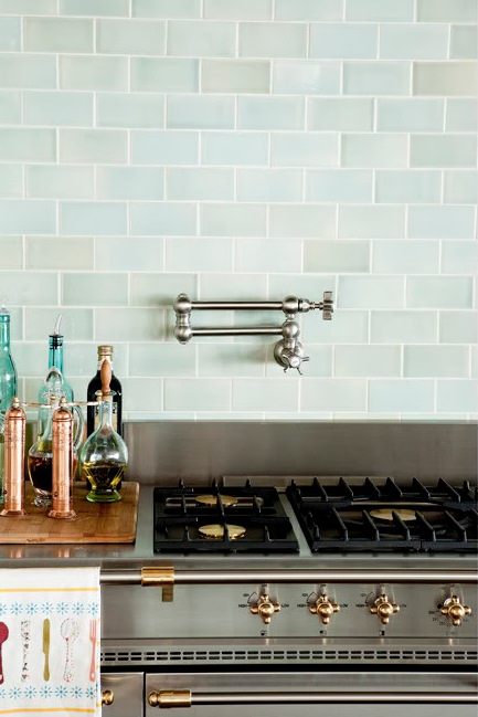 Blue Backsplash Tiles Design Ideas