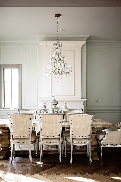 French dining table french dining room decor de provence for Restoration hardware dining room ideas