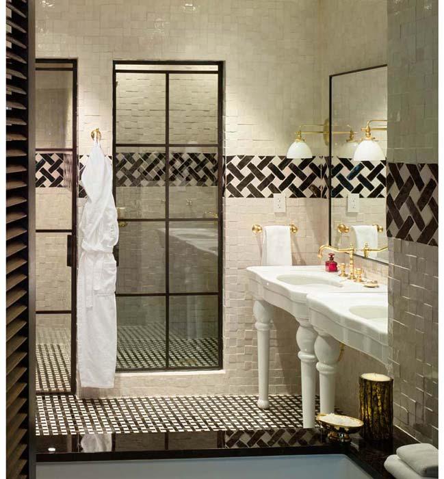 Steel And Glass Shower Door Transitional Bathroom