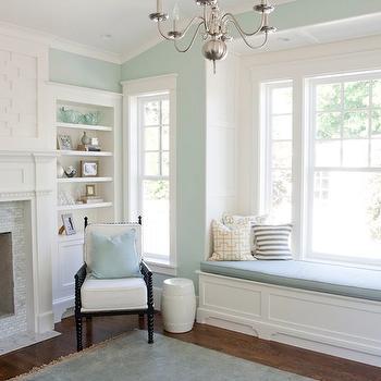 living room, Benjamin Moore Palladian Blue, Caitlin Creer Interiors