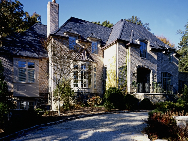 Home exterior for French chateau style