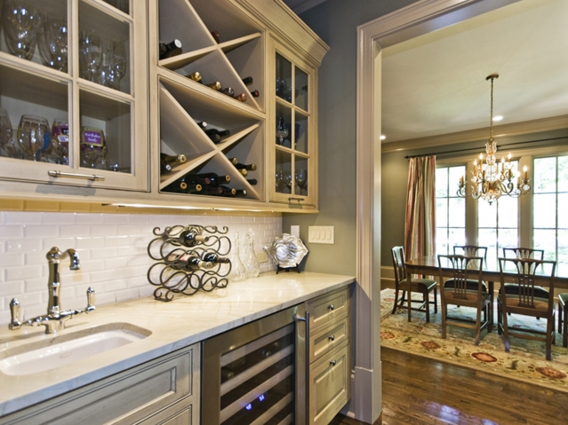 wet bar design transitional kitchen