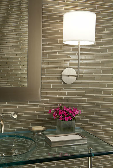 taupe glass tiles contemporary bathroom mark williams design