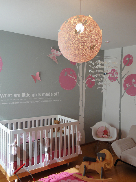 Pink And Gray Nursery Contemporary Nursery