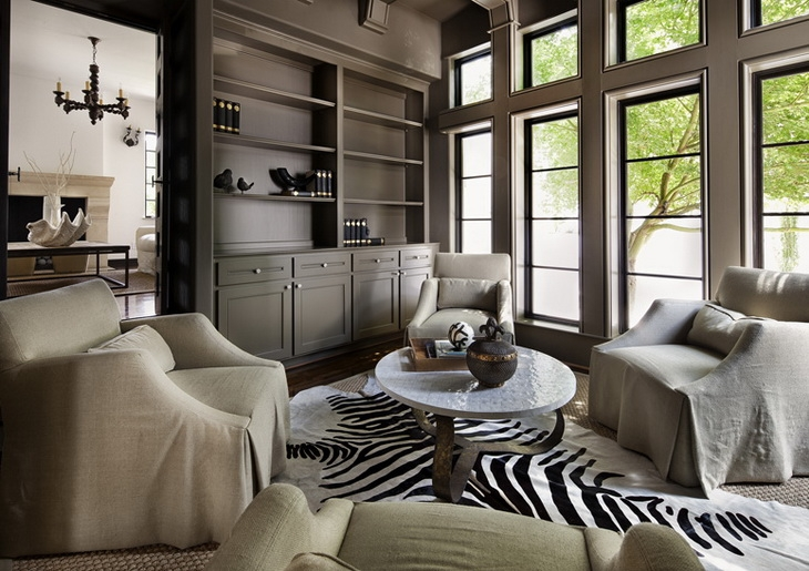 Taupe paint transitional den library office simple for Taupe colors for walls