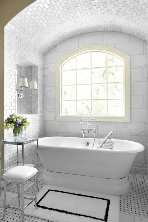 Alcove Bathtub Transitional Bathroom Mark Williams