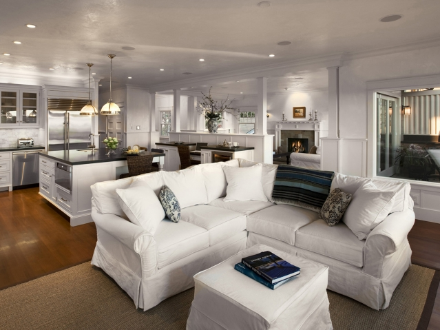 White Slipcovered Sectional Sofa Design Ideas