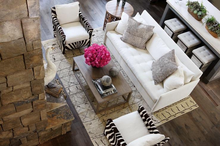 Zebra Chairs Contemporary Living Room Atlanta Homes