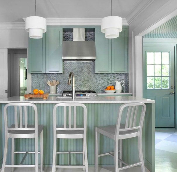 Mint Green Kitchen: Mint Green Kitchen Cabinets Design Ideas