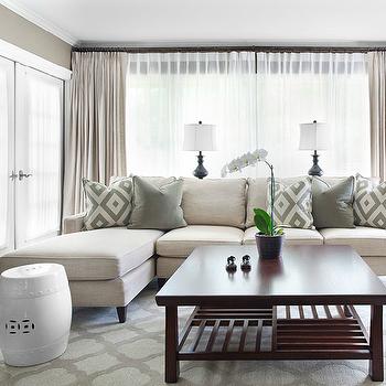 Mitchell Gold Sofa, Contemporary, living room, Sherwin Williams Tony Taupe, Mark Williams Design