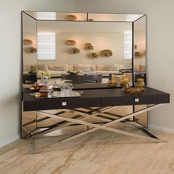 Espresso Beveled Floor Mirror Design Ideas