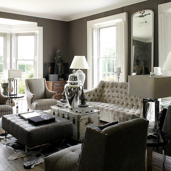 Gray Tufted Sofa, Eclectic, living room, 1st Option