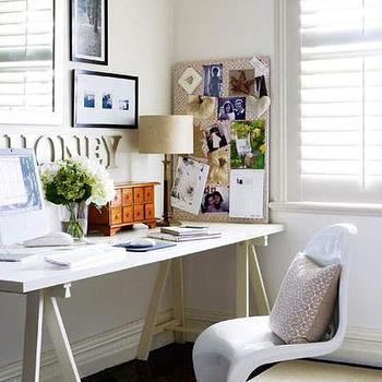 Sawhorse Desk, Contemporary, den/library/office