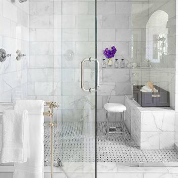 Marble Walk In Shower, Transitional, bathroom, Mark Williams Design