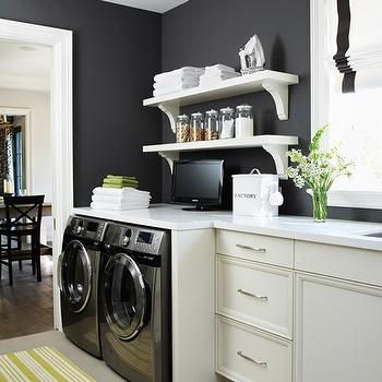 Laundry Shelves, Contemporary, laundry room, House & Home
