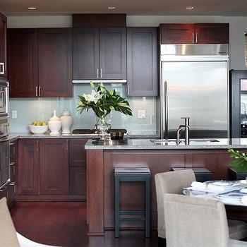 Cherry KItchen Cabinets, Contemporary, kitchen, Kerrisdale Design