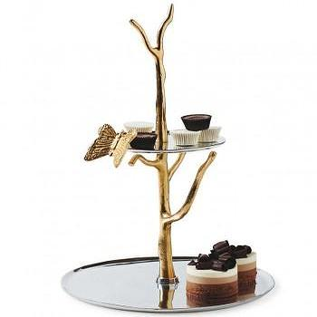Branch Tiered Serving Tray, VivaTerra