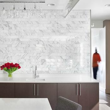 Marble Subway Tile, Contemporary, kitchen, Mark Williams Design
