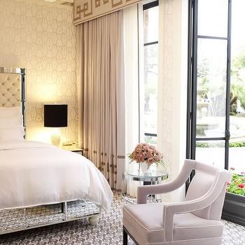 Mirrored Bed, Contemporary, bedroom, Jamie Herzlinger