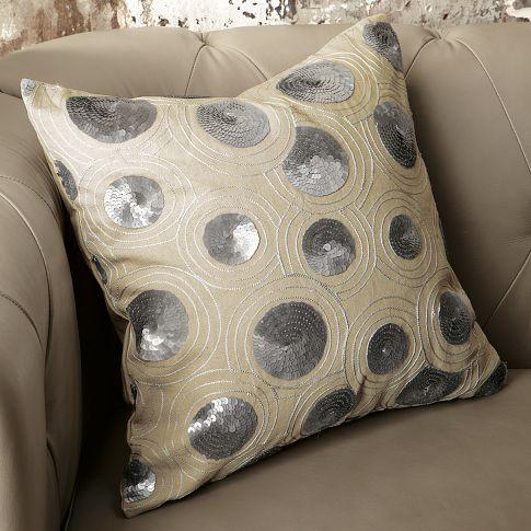 Sequins Circle Pillow Cover West Elm
