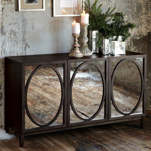 Foxed Mirror Buffet | west elm - Storage Furniture - Mirrored Buffet