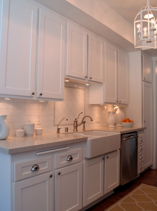 White Galley Kitchen galley kitchen backsplash design ideas