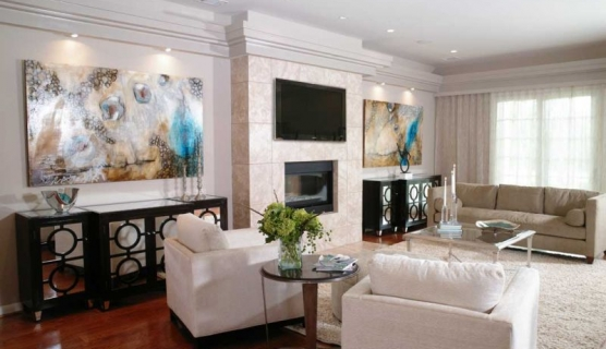 worlds away ava mirrored buffet transitional living room