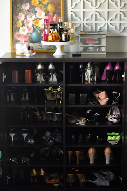 Shoe Shelves Transitional Bedroom Caitlin Wilson Design