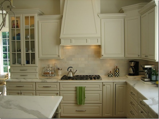 Statuary marble countertop traditional kitchen - Best white tile backsplash kitchen ...
