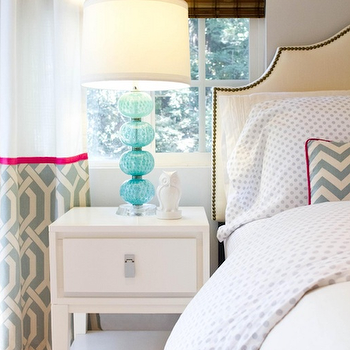 Turquoise Lamps = Contemporary, bedroom, Turquoise LA