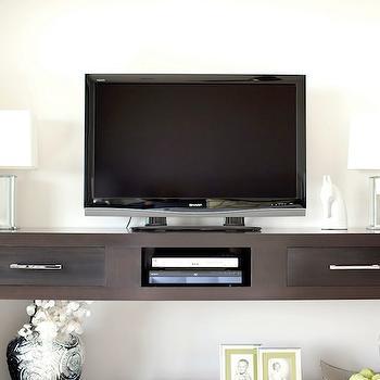 Gray Washed Cabinet - Cottage - living room - Sabal Homes SC